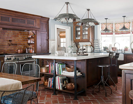 Terra cotta tiles flooring farmhouse kitchen other for Terracotta kitchen ideas