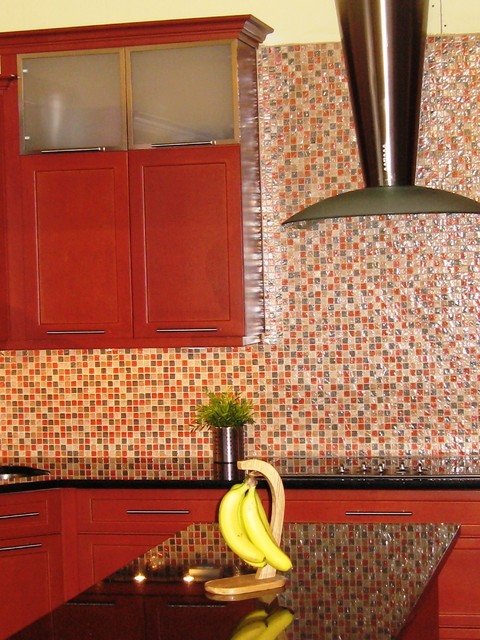 Terracotta shaker contemporary kitchen new york by dynamic kitchen design interiors for Dynamic kitchen design interiors