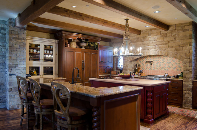 Texas hill country style traditional kitchen for Hill country classic homes