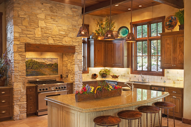 Texas Hill Country Style Southwestern Kitchen