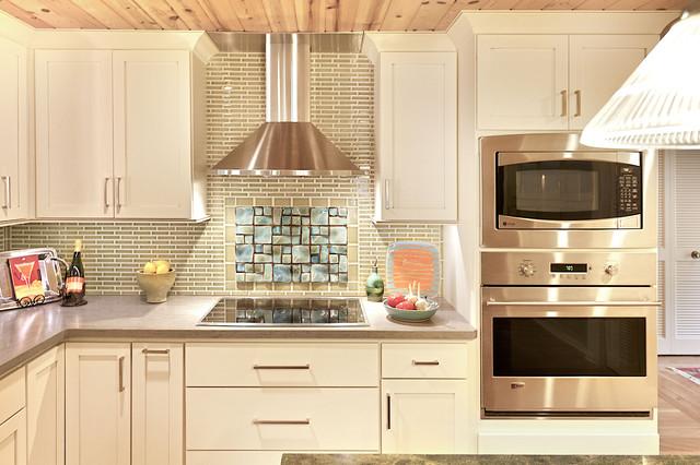 Textured backsplash contemporary kitchen grand for Textured backsplash