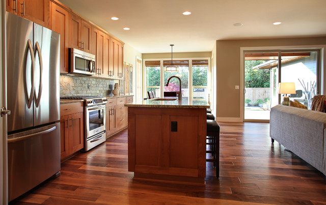 textured eclectic kitchen traditional-kitchen