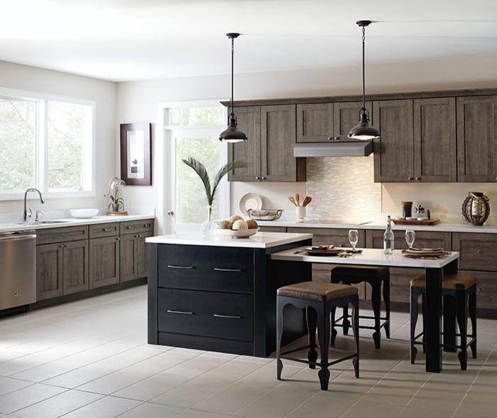 Textured Laminate Kitchen Cabinets - Transitional ...