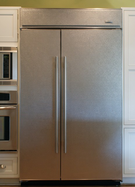Textured Stainless Steel Refrigerator Panels