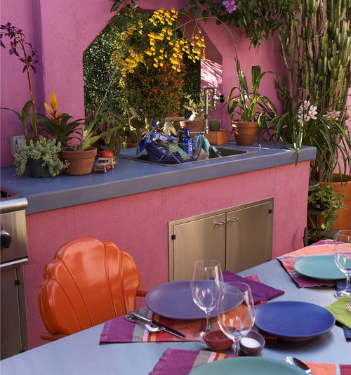 eclectic kitchen gardening outdoor