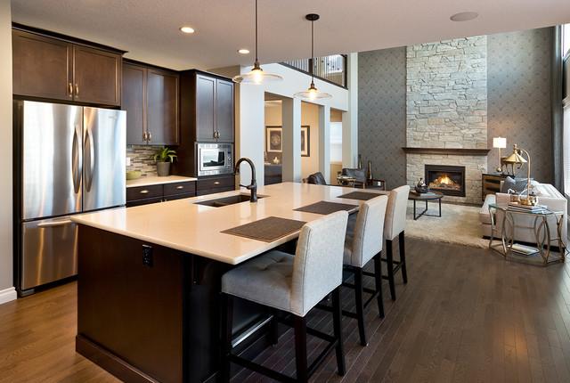 The Athabasca Showhome In Mahogany Calgary Alberta Modern Kitchen Calgary By Morrison