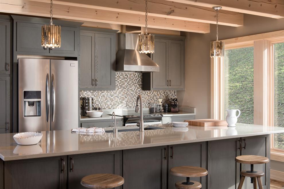Mountain style kitchen photo in New York