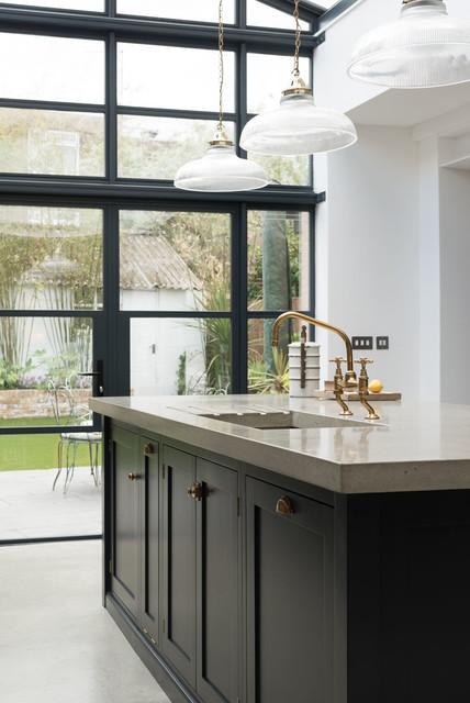 The balham kitchen by devol transitional kitchen