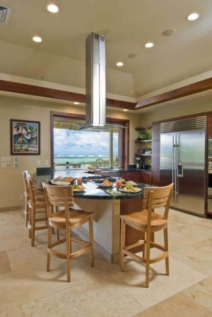 The bay house kitchen tropical kitchen hawaii by for Archipelago hawaii luxury home designs
