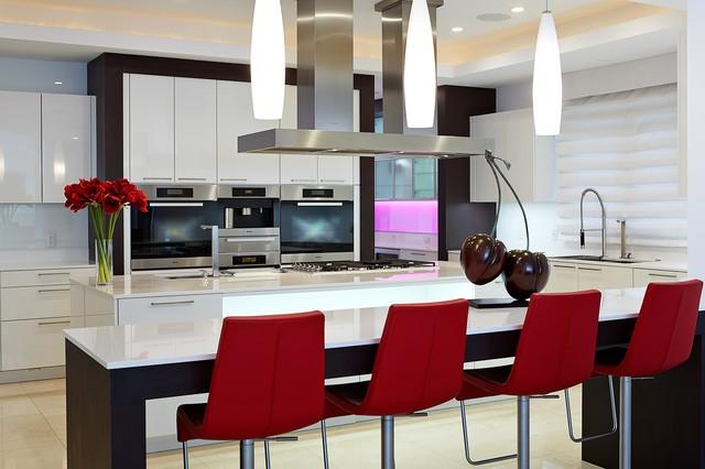 The Baystone Custom Home contemporary-kitchen