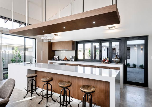 The Bletchley Loft   Kitchen Island Bench Contemporary Kitchen