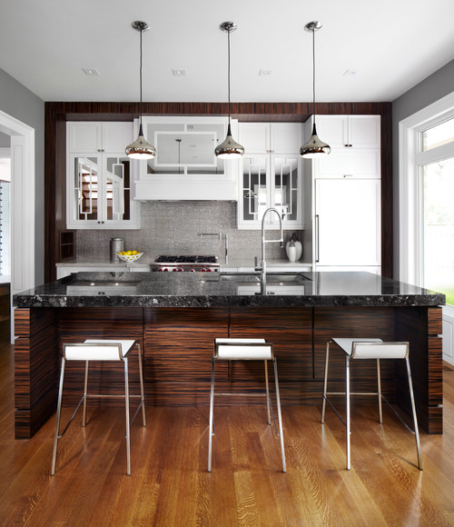 Mirrored Kitchen Cabinets.  Mirrored Cabinet Doors