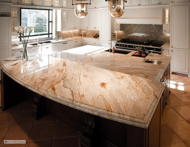 The Brazilian Dream Quartzite Kitchen Mediterranean Kitchen