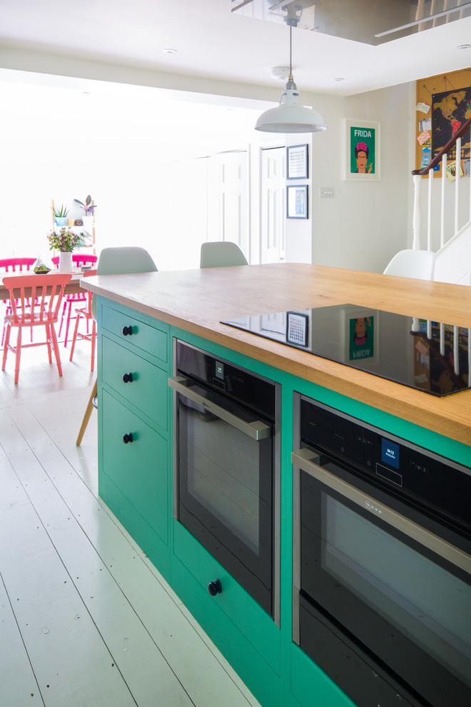 The Colourful Fun Shaker Kitchen Transitional Kitchen Other By Sustainable Kitchens
