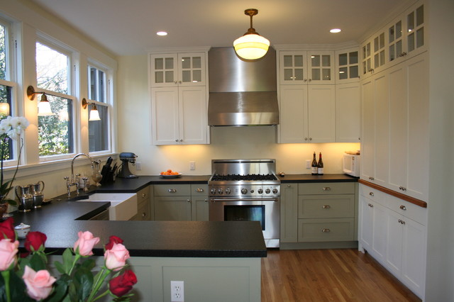 The Contrasting Cabinet Colors Add A Lot Of Personality