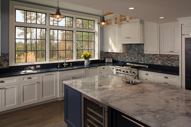 Inspiration for an eclectic kitchen remodel in Boston