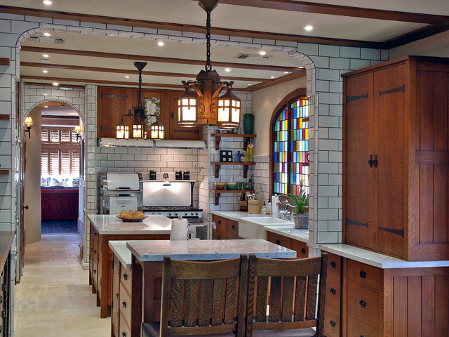 The Definitive Arts u0026 Crafts Kitchen - Traditional - Kitchen - Los Angeles - by Warren Hile Studio