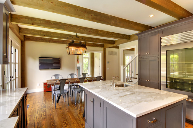 ... Cottage - Traditional - Kitchen - manchester NH - by Yankee Barn Homes