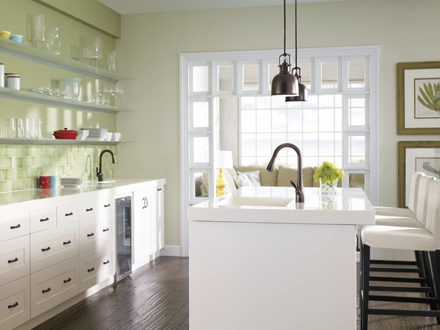 The Elements Of A Transitional Kitchen Transitional Kitchen By Moen