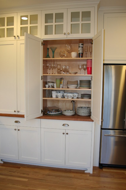 The full height pantries create great storage