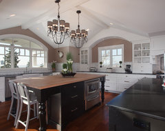The Gambrel Roof Home eclectic kitchen
