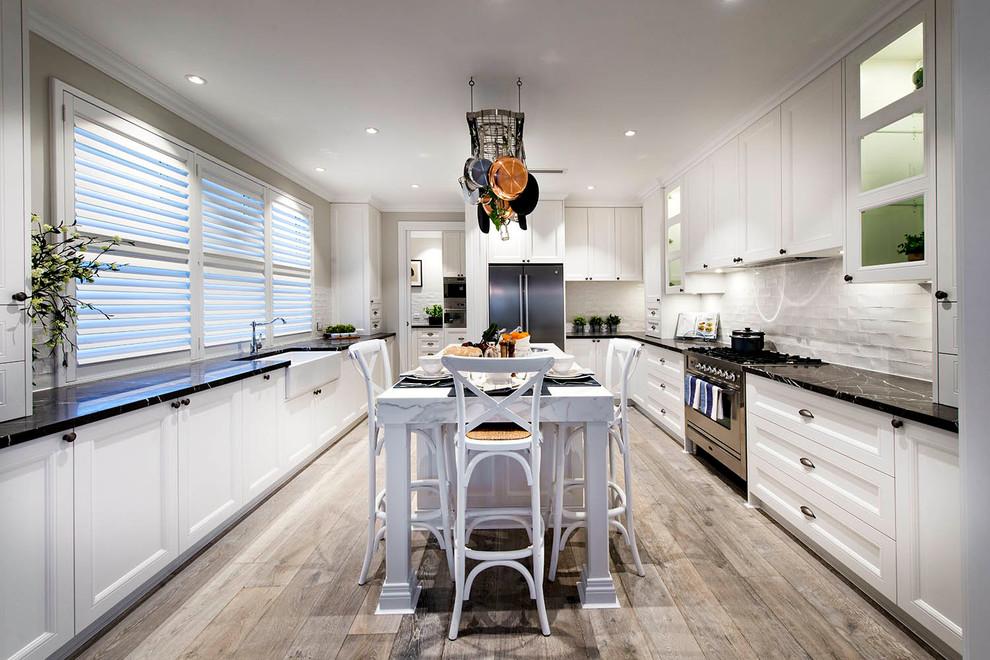 Coastal kitchen photo in Perth