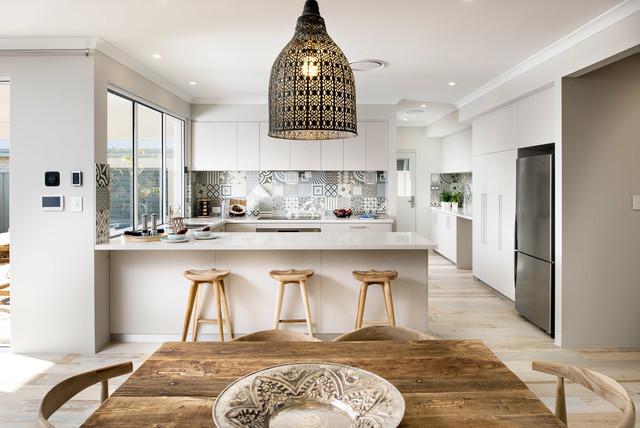 the hampton beach beach style kitchen perth by jodie cooper design. Black Bedroom Furniture Sets. Home Design Ideas