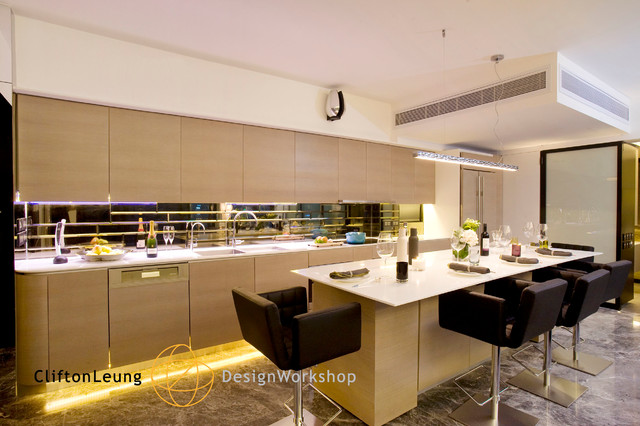 The Harbourside Les Maisons Contemporary Kitchen Hong Kong By Clifton Leung Design