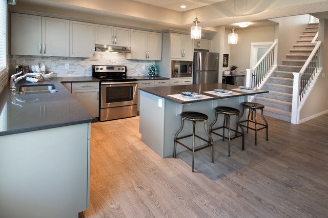 the harlow showhome in nolan hill calgary ab traditional kitchen