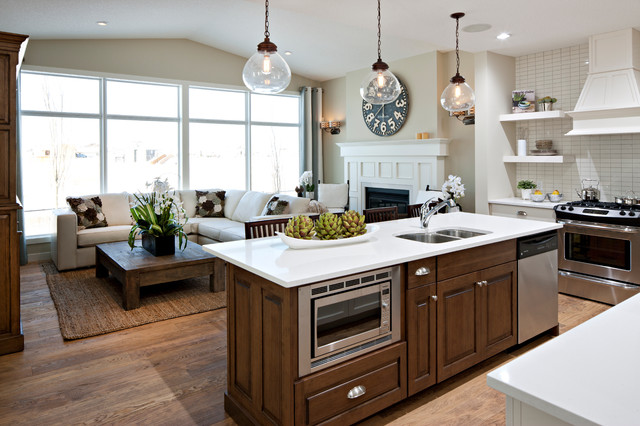 The Hawthorne - Kitchen/Great Room - Traditional - Kitchen - calgary ...