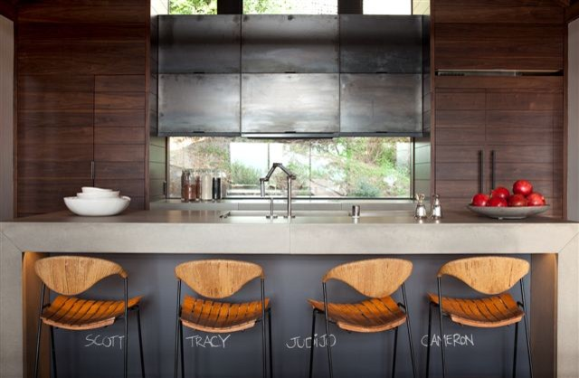 The Hillside House contemporary-kitchen