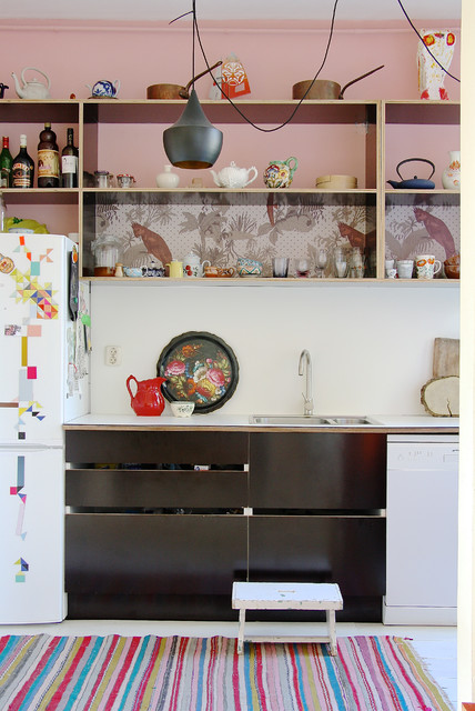 The home of Romy and Ilya eclectic-kitchen