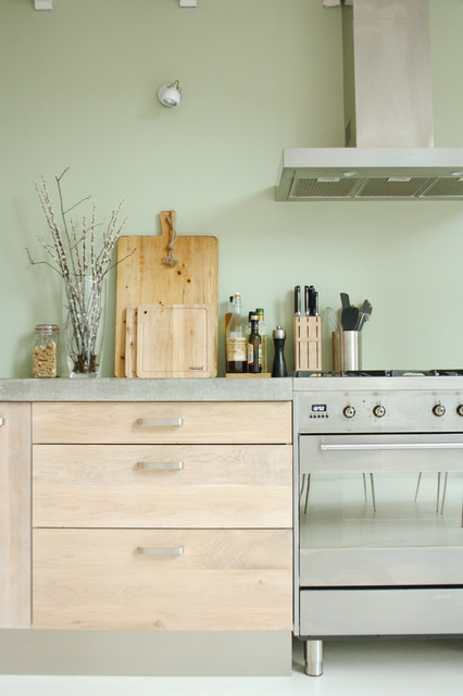 The home of Stella and Joeri industrial-kitchen