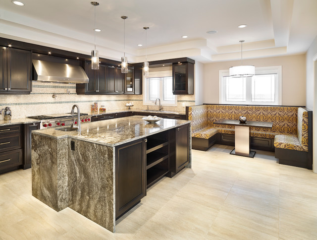 The Illustrious Showhome Contemporary Kitchen Edmonton By Iconic Estate Homes Inc