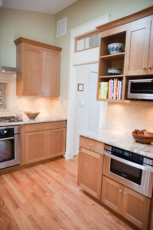 The Inherent Beauty of Natural Cherry, Granite, and Travertine traditional-kitchen