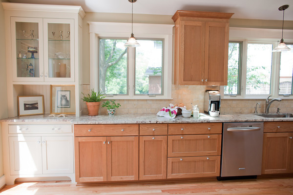 The Inherent Beauty Of Natural Cherry, Granite, And Travertine  Traditional Kitchen