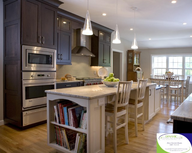 The jaworski residence traditional kitchen wilmington by dynamic kitchen and interiors for Dynamic kitchen design interiors