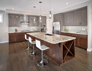The jones contemporary kitchen edmonton by smith homes Pantry cabinet edmonton