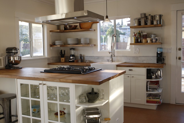 The kitchen in a recent remodel of a 100 year old Craftsman bungalow contemporary-kitchen