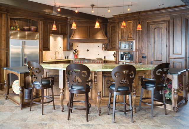 The Lacombe traditional-kitchen