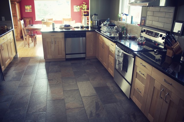 the leyland st. bamboo flooring project - contemporary - kitchen