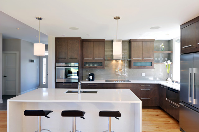 The Living contemporary-kitchen