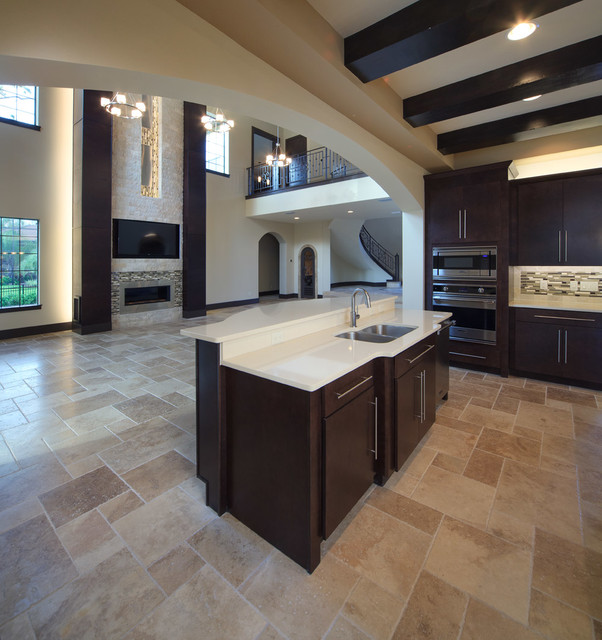 The modern mediterranean home contemporary kitchen Modern custom home builders