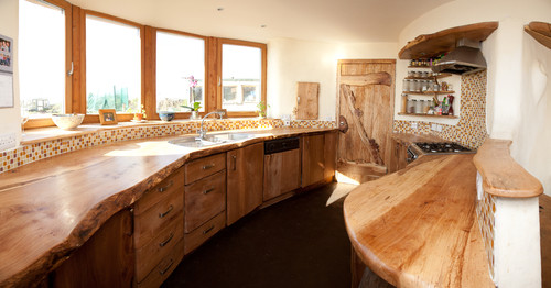 Mud and Wood House rustic kitchen