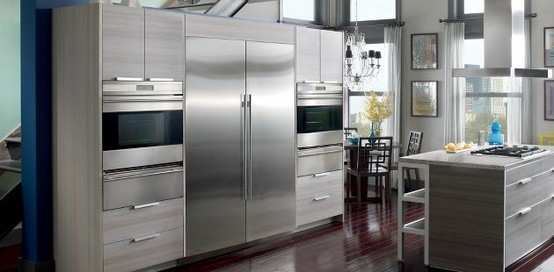The Newly Expanded Sub Zero Integrated Line Contemporary Kitchen