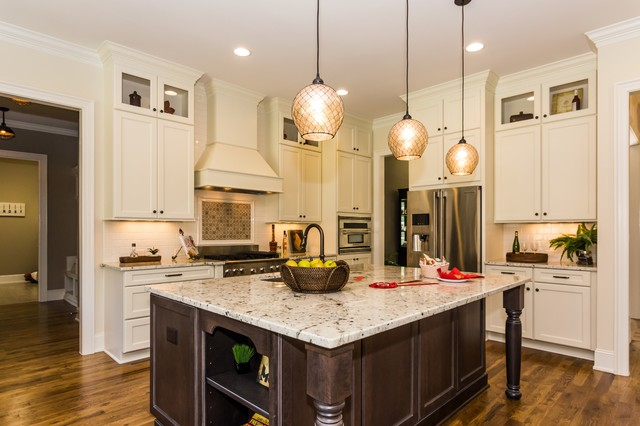 Raleigh nc traditional kitchen raleigh by homes by dickerson