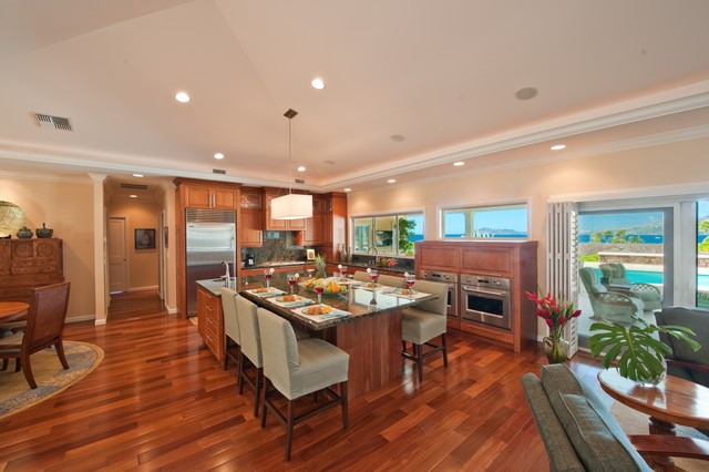 The Ohana Place Contemporary Kitchen Hawaii By Archipelago Hawaii Luxury Home Designs