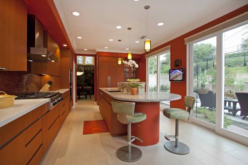 paramount granite blog » 5 orange kitchens…
