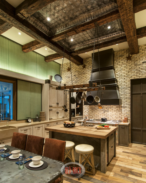Rustic Red Kitchen: Rustic Revelation