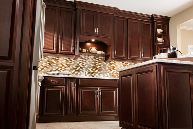 The rich look of Cherry, for a home on a budget traditional-kitchen